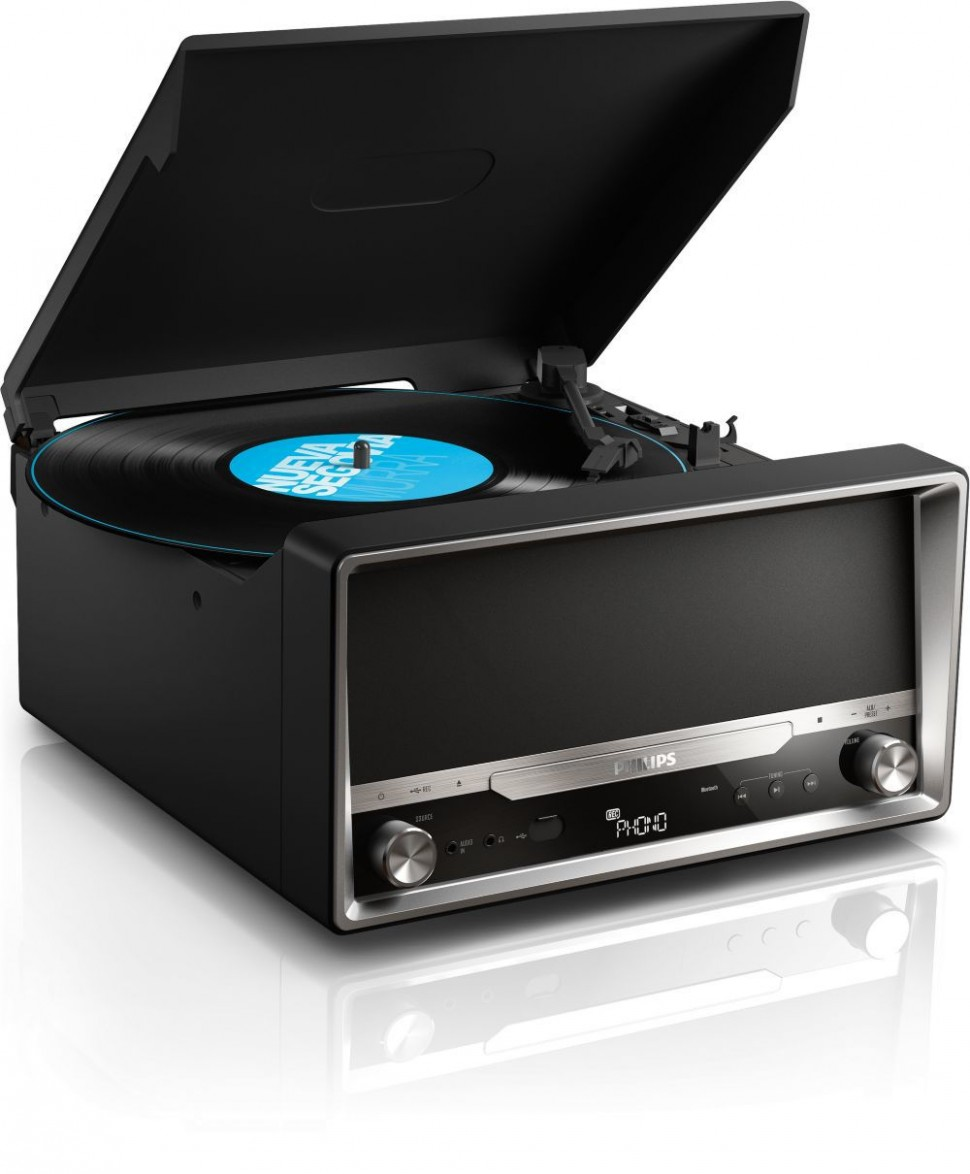 Philips Ott2000b Micro Sound System Bluetooth For Lp Vinyl