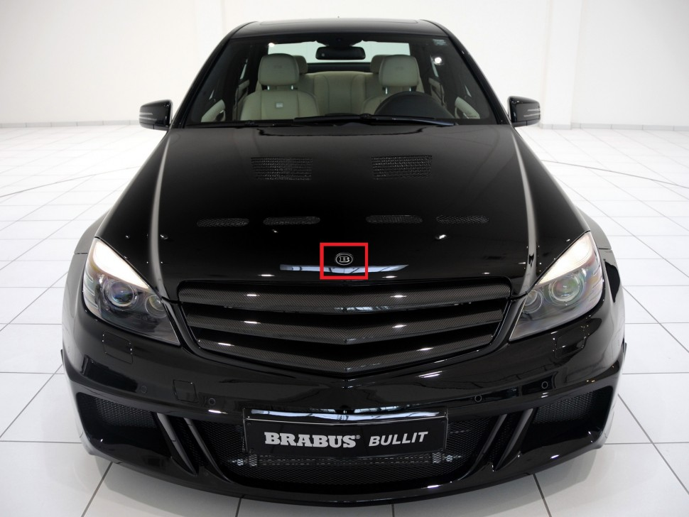 Brabus logo for the bonnet of mercedes benz c class w204 for Mercedes benz usa customer service phone number