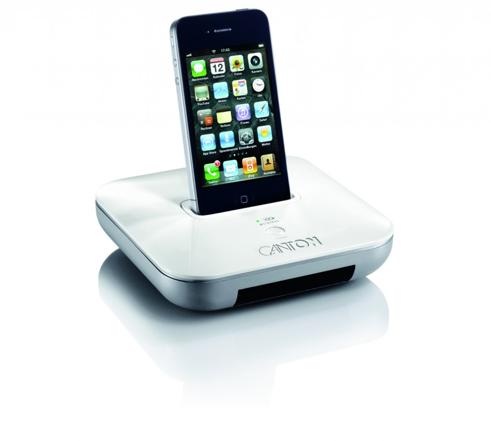 canton your dock white wireless iphone docking station. Black Bedroom Furniture Sets. Home Design Ideas