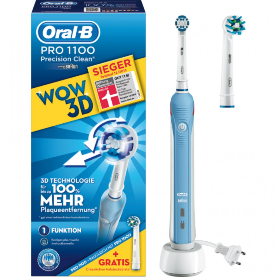 braun oral b pro 1100 wow edition electric toothbrush crossaction brush genuine. Black Bedroom Furniture Sets. Home Design Ideas