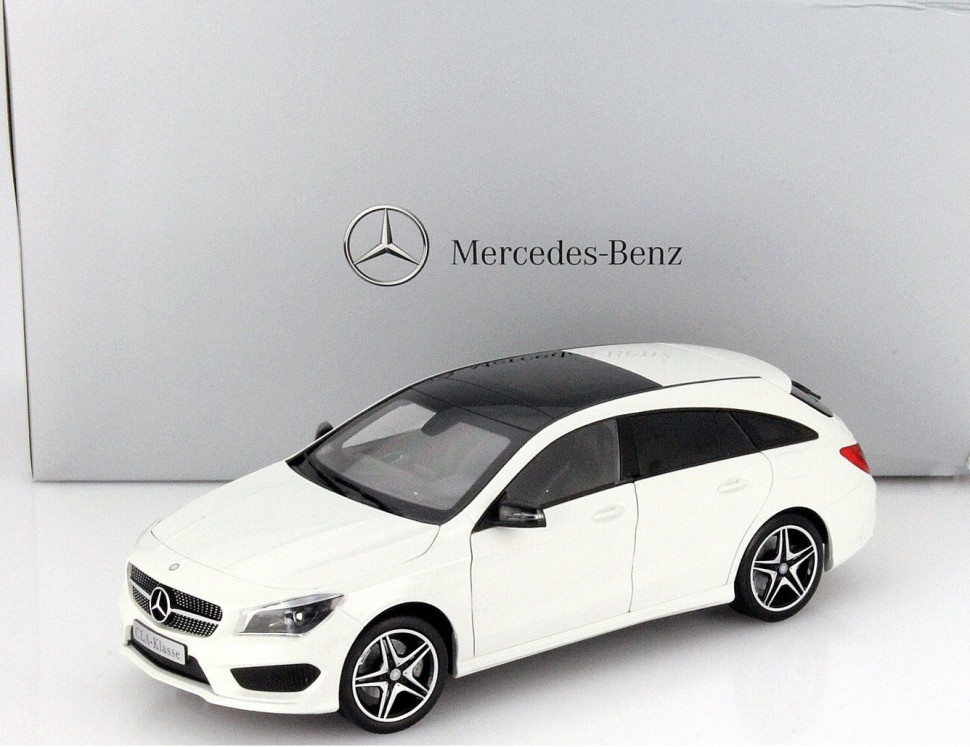 norev white mercedes benz cla shooting brake x117 model auto 1 18 genuine new. Black Bedroom Furniture Sets. Home Design Ideas