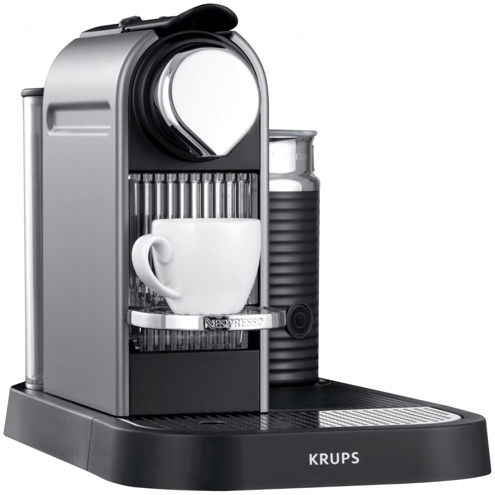 Krups Coffee Maker And Frother : KRUPS XN730T Nespresso Citiz Capsule Coffee Machine + Milk Frother Titanium NEW eBay