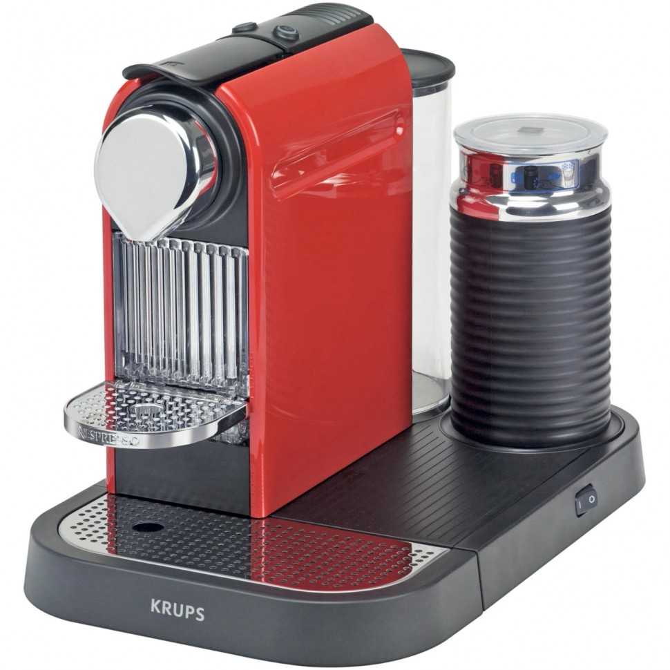 Krups Coffee Maker And Frother : KRUPS XN7305 Nespresso New Citiz Capsule Coffee Machine + Milk Frother Red NEW eBay
