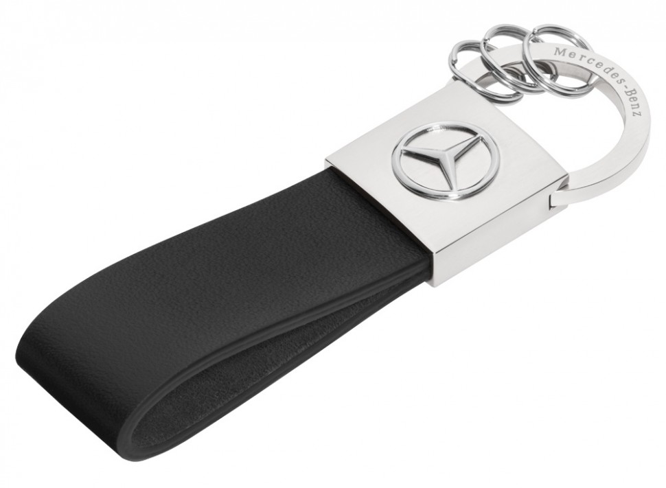 Mercedes Benz Keyring Key Rings Black Leather Seattle