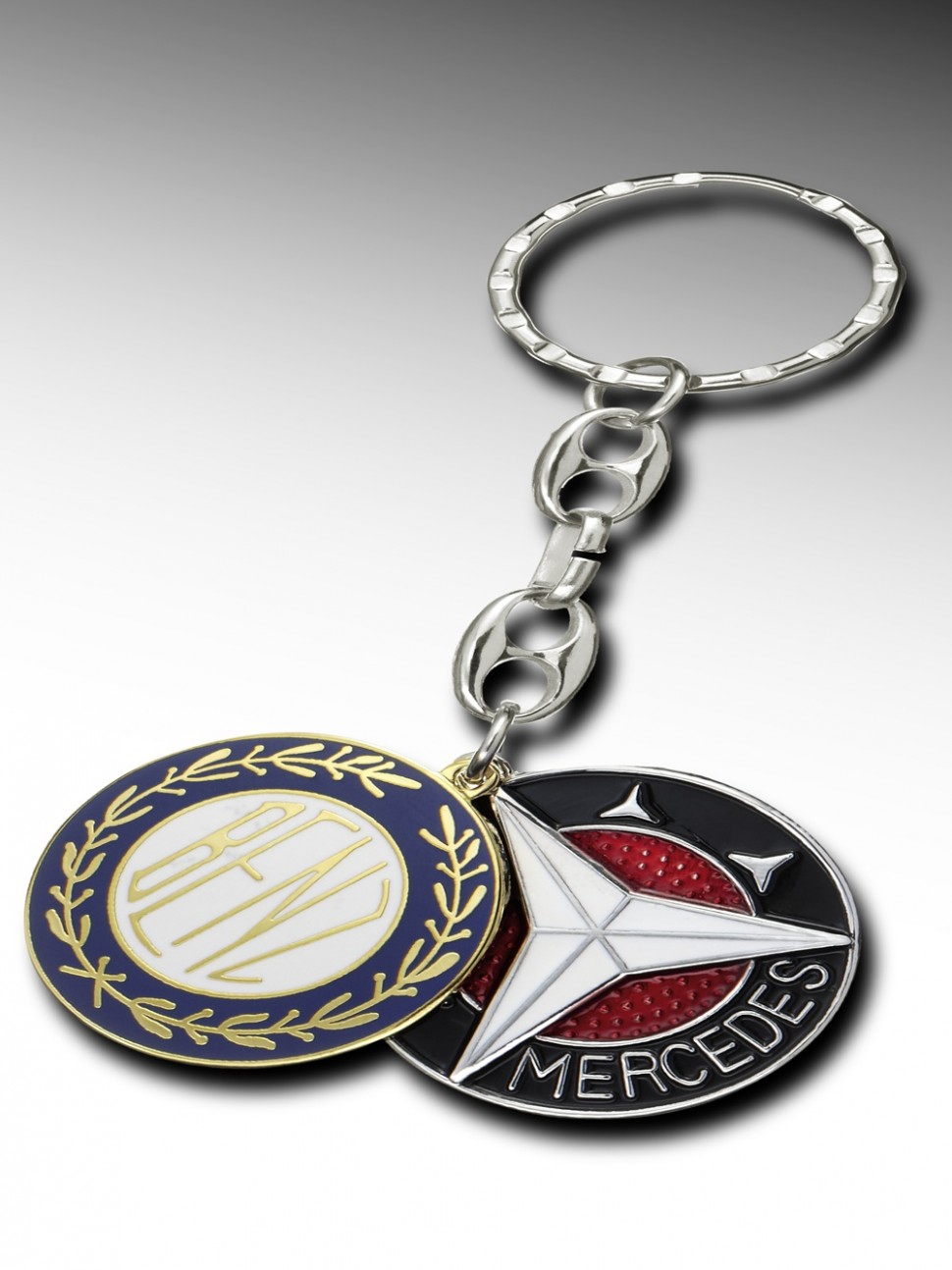 Mercedes benz key ring keyrings vintage stars b66043063 for Mercedes benz ring