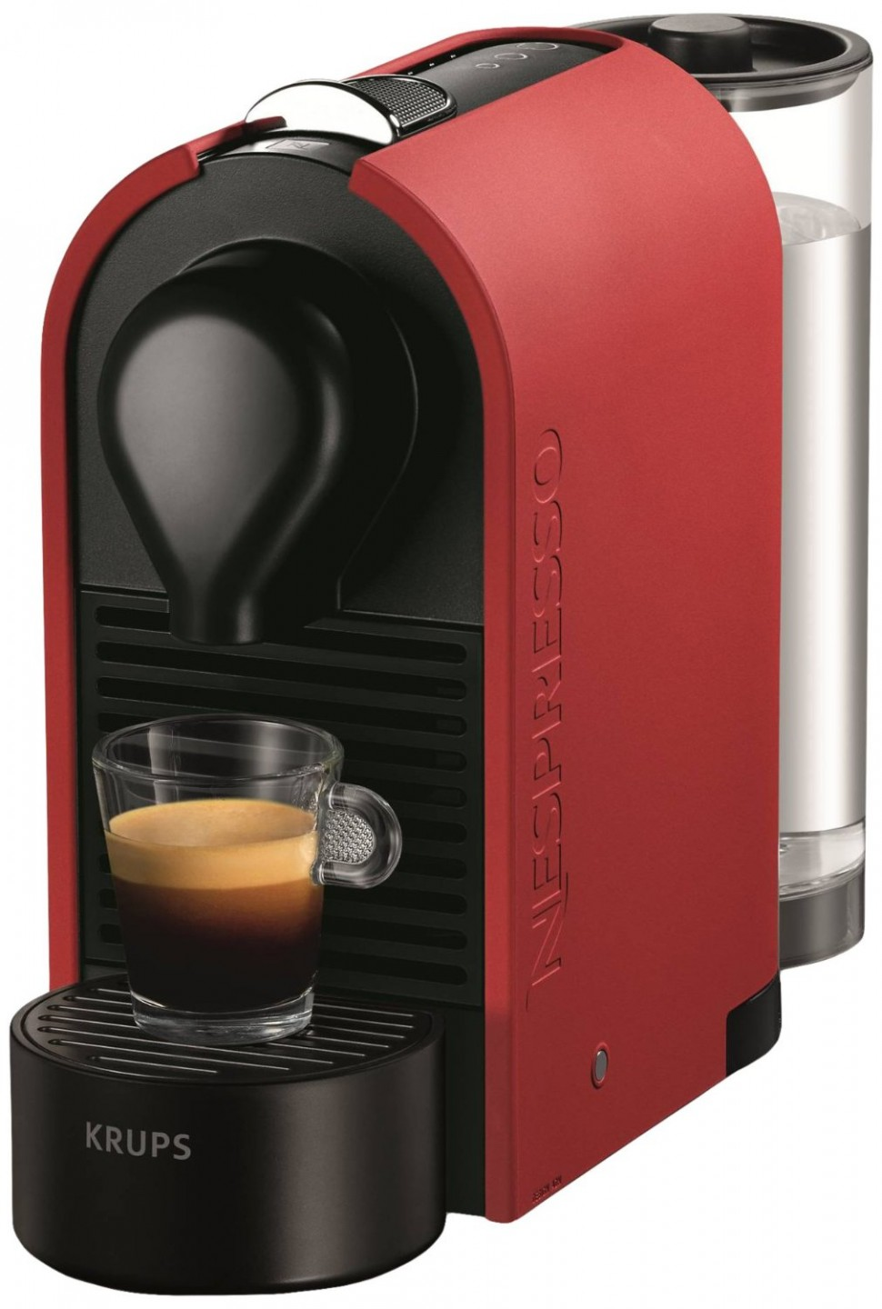krups xn2505 nespresso umat capsule coffee pod machine red. Black Bedroom Furniture Sets. Home Design Ideas