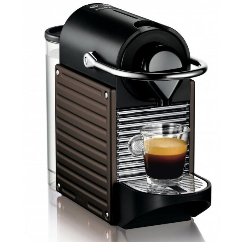 Krups xn3008 nespresso pixie capsule coffee pod machine dark brown genuine new ebay - Machine a cafe krups nespresso ...