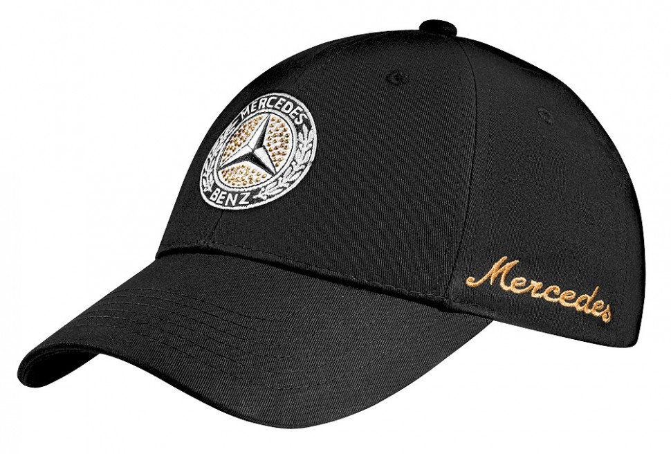 Genuine new mercedes benz women cap black with swarovski for Mercedes benz caps hats