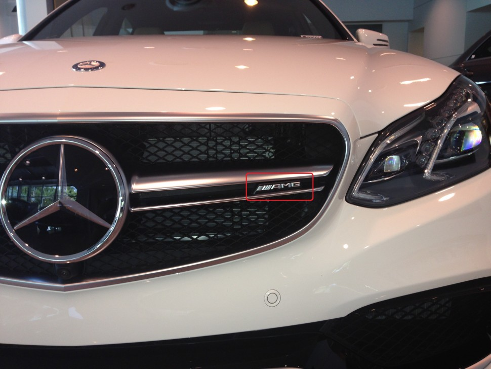 Mercedes e63 amg lettering for front grille of e class for Mercedes benz grills