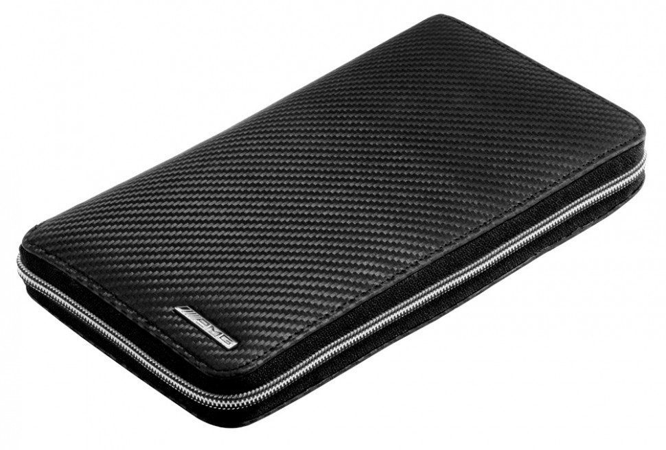 Mercedes benz amg carbon leather travel wallet handmade for Mercedes benz wallet