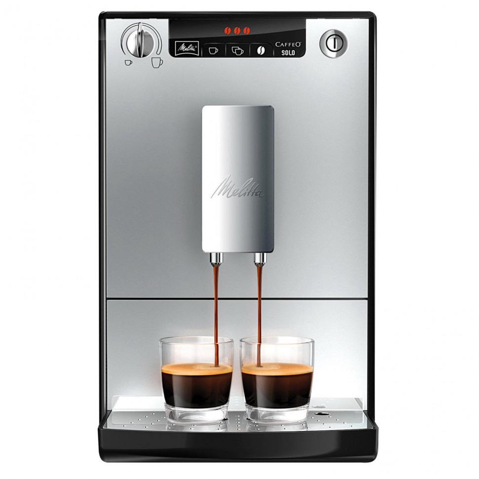 melitta e950 103 caffeo solo automatic coffee machine silver black genuine new ebay. Black Bedroom Furniture Sets. Home Design Ideas