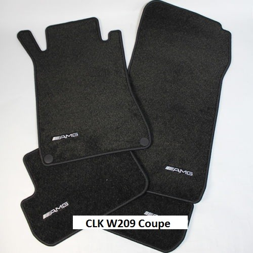 mercedes benz amg clk w209 anthracite velour floor mats