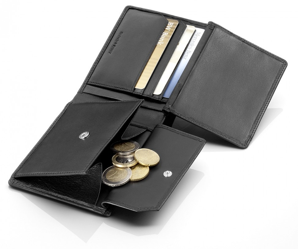 Mercedes benz amg coin purse wallet black leather for Mercedes benz purse