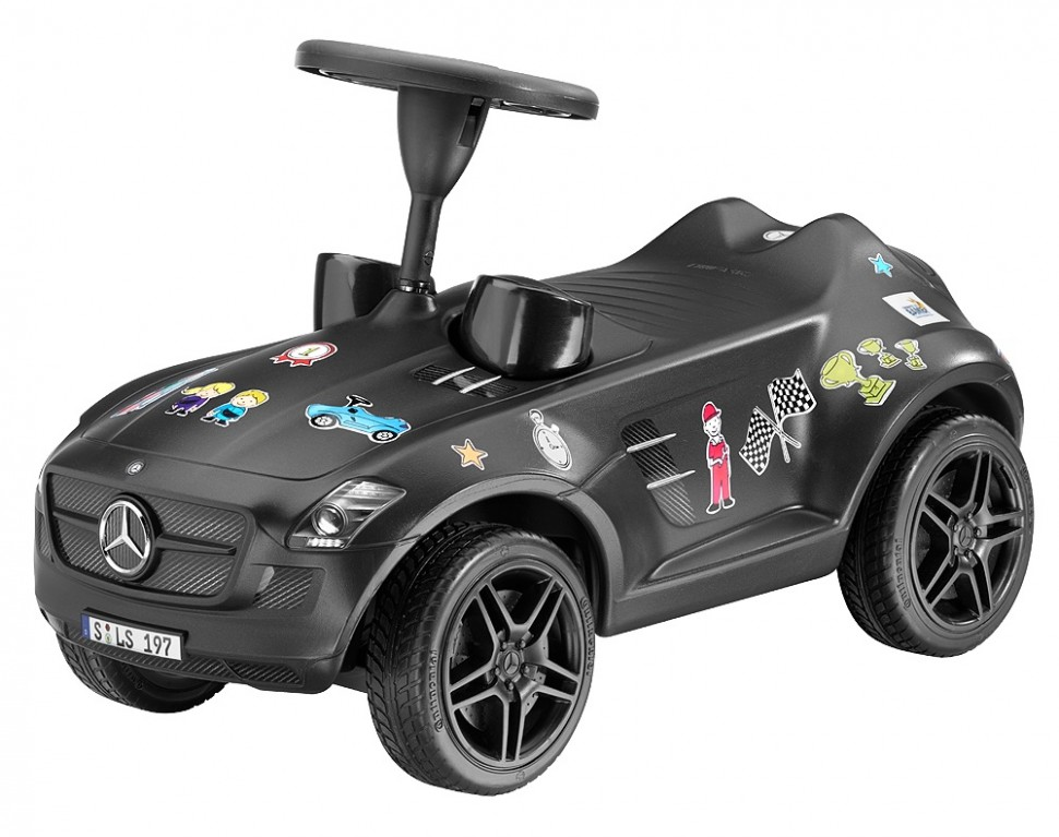 big mercedes benz ride on sls amg bambi grey bobby car. Black Bedroom Furniture Sets. Home Design Ideas