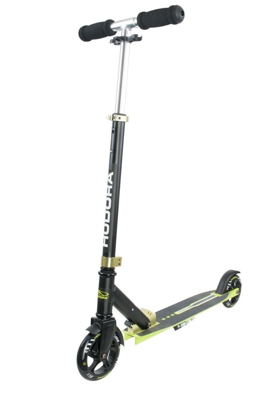 hudora aluminium push kick scooter big wheel bold 145 green 14255 genuine new ebay. Black Bedroom Furniture Sets. Home Design Ideas