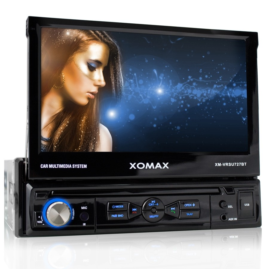 xomax xm vrsu727bt car radio stereo mp3 touch screen. Black Bedroom Furniture Sets. Home Design Ideas