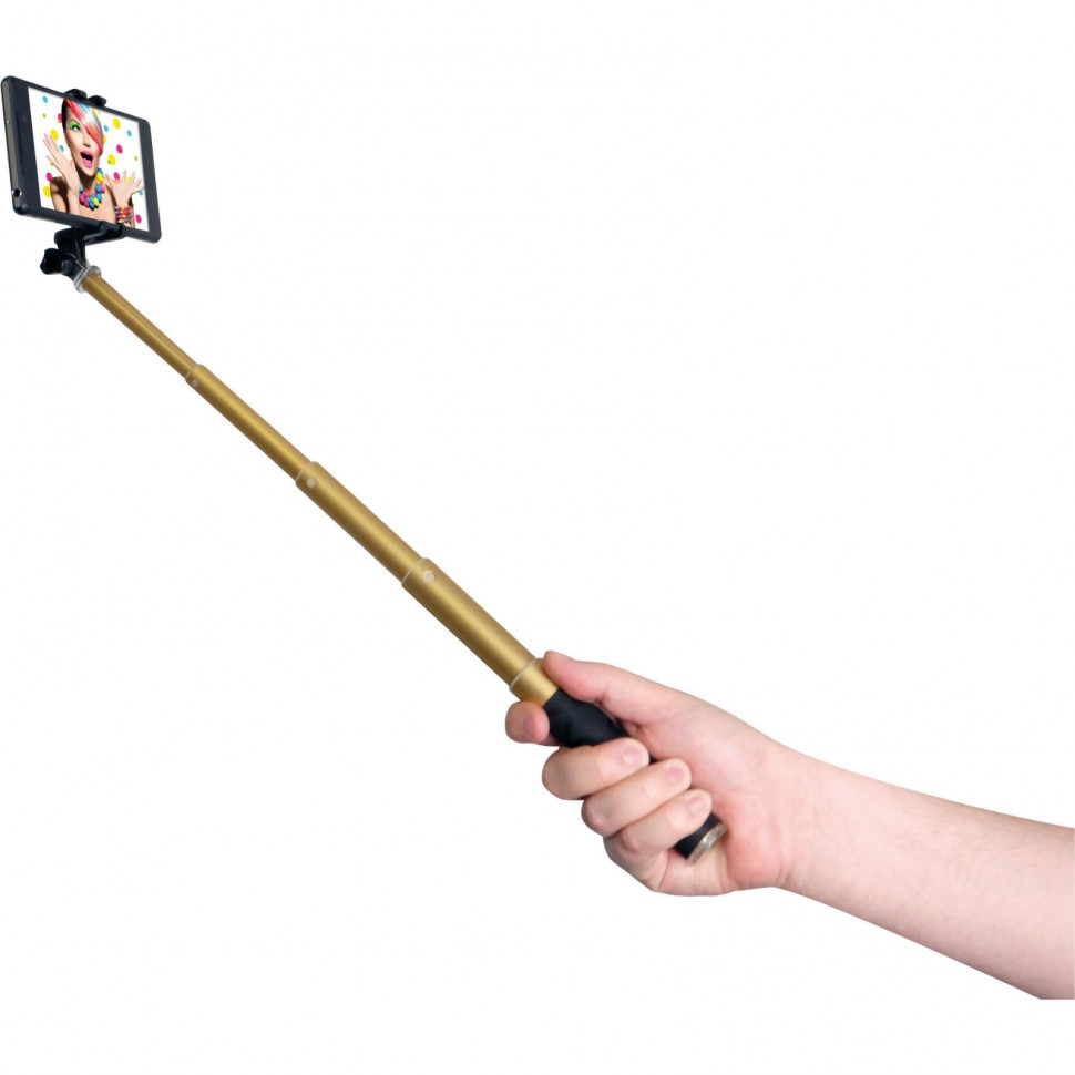 rollei selfie stick style 4 gold telescopic rod for your smartphone genuine ebay. Black Bedroom Furniture Sets. Home Design Ideas