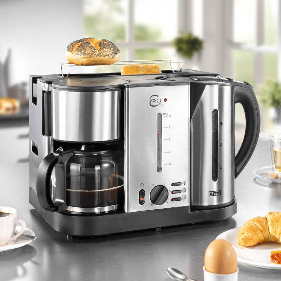 BEEM D1000641 ECCO 3 in 1 Toaster Coffee Maker Kettle 3750W Genuine New eBay
