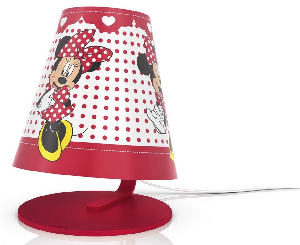 philips disney 71764 31 16 table lamp minnie mouse red led. Black Bedroom Furniture Sets. Home Design Ideas