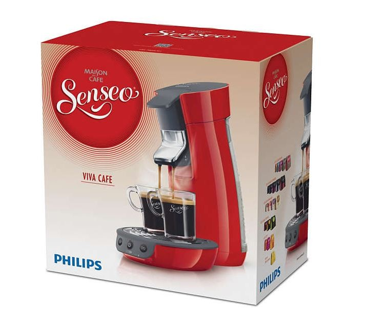 philips hd7825 90 senseo viva cafe coffee capsule pod machine red genuine new ebay. Black Bedroom Furniture Sets. Home Design Ideas