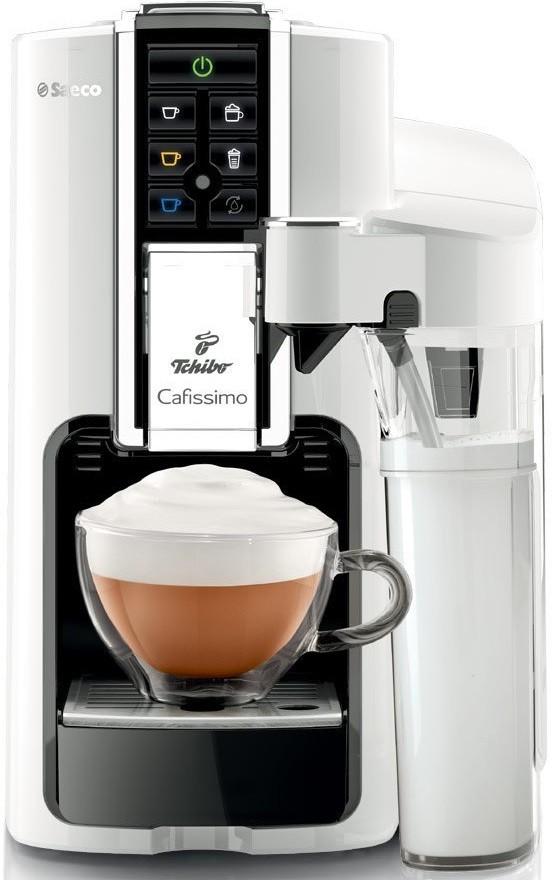 tchibo saeco hd8603 41 cafissimo latte capsule espresso machine white genuine ebay. Black Bedroom Furniture Sets. Home Design Ideas