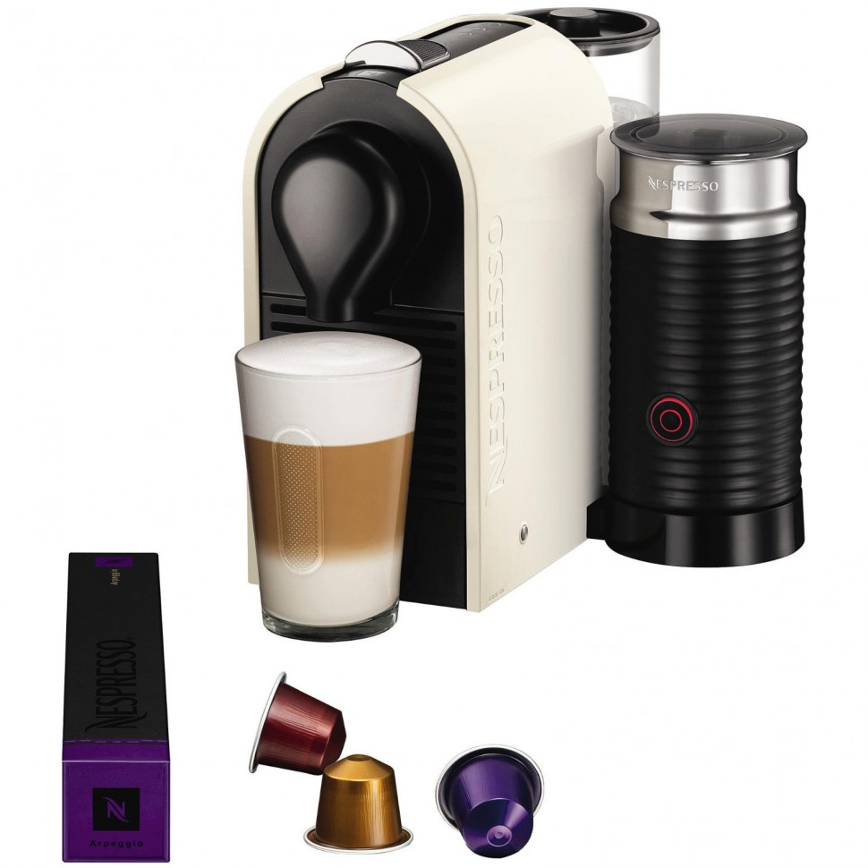 krups xn 2601 nespresso umilk pure cream capsule coffee machine genuine new ebay. Black Bedroom Furniture Sets. Home Design Ideas