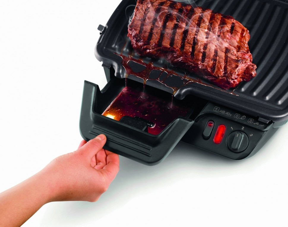 Tefal gc 3050 ultra compact 600 contact grill 2000w silver black genuine new ebay - Grill viande ultra compact tefal ...