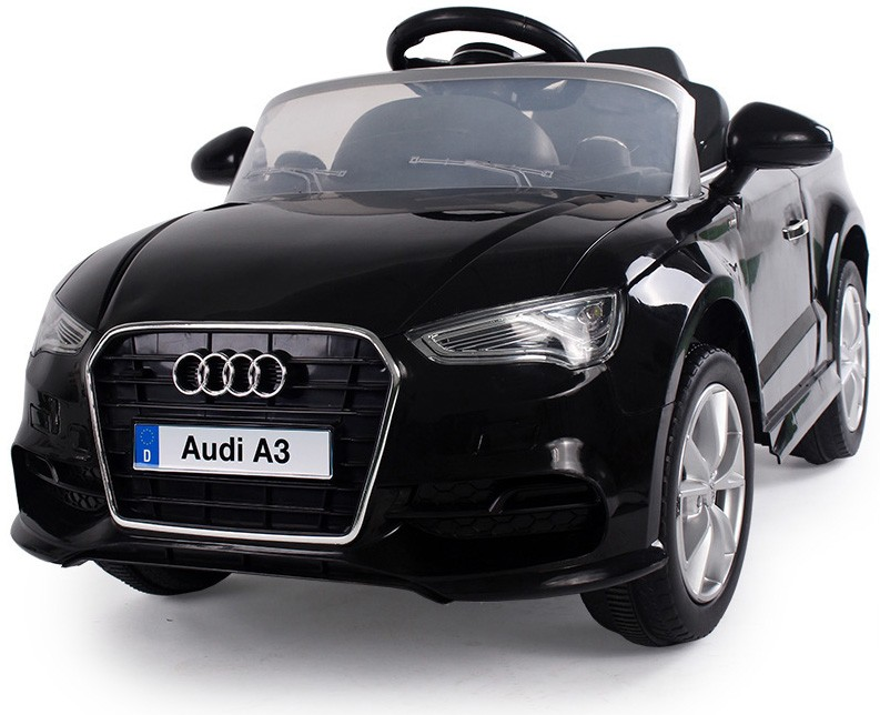 crooza audi a3 cabrio 2015 ride on black electric kids children car 1 4 genuine ebay. Black Bedroom Furniture Sets. Home Design Ideas