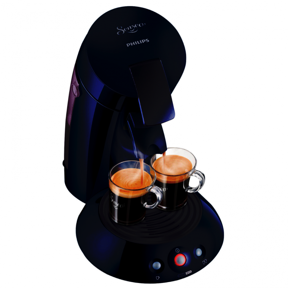 philips hd7810 45 senseo original coffee pod machine 1450w 2 cups blue genuine ebay. Black Bedroom Furniture Sets. Home Design Ideas