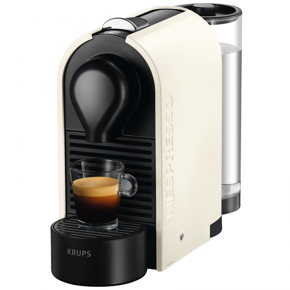 krups nespresso u xn 2501 capsule coffee machine pure cream 1260w genuine new ebay. Black Bedroom Furniture Sets. Home Design Ideas