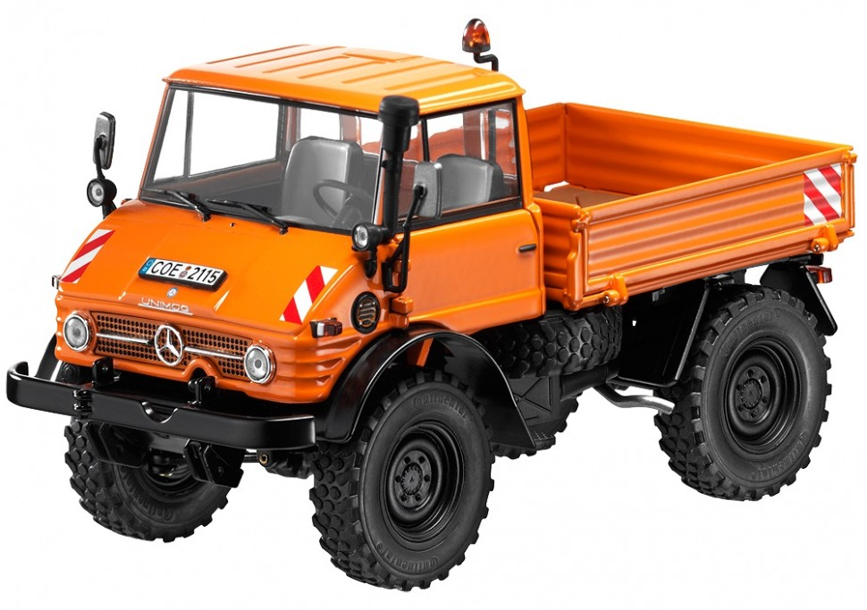 weise toys mercedes benz orange unimog u406 u84 model car 1 32 b66041213 genuine ebay. Black Bedroom Furniture Sets. Home Design Ideas