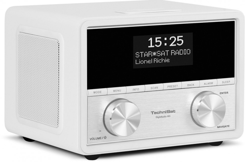 technisat digitradio 80 digital radio white am fm dab. Black Bedroom Furniture Sets. Home Design Ideas
