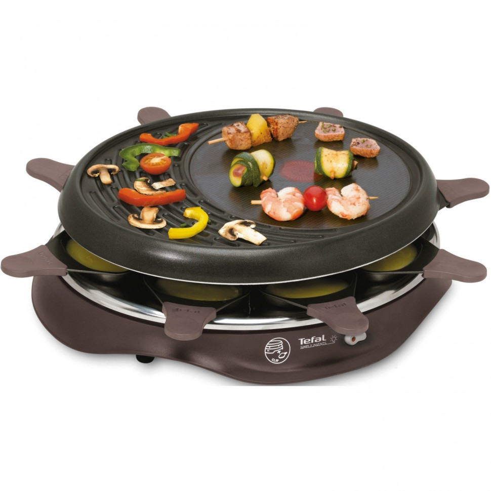 tefal re 5160 simply invents raclette grill 8 pans 1050w cherry black genuine 3168430094697 ebay. Black Bedroom Furniture Sets. Home Design Ideas