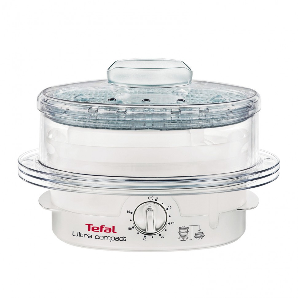 tefal ultra compact steam cuisine vc1006 food steamer 900w white genuine new ebay. Black Bedroom Furniture Sets. Home Design Ideas