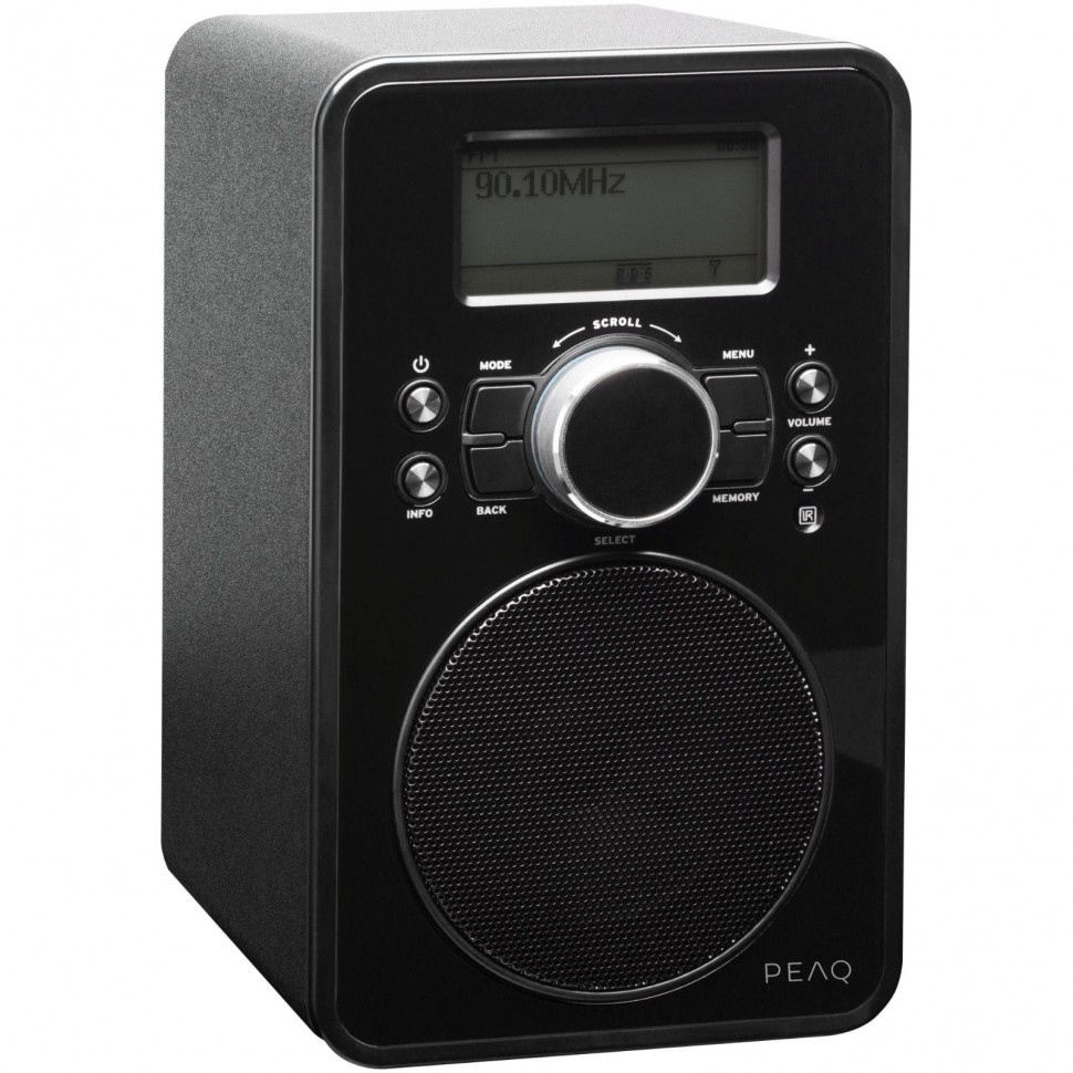 peaq pdr210 b digital radio fm internet wifi black clock alarm snooze genuine ebay. Black Bedroom Furniture Sets. Home Design Ideas