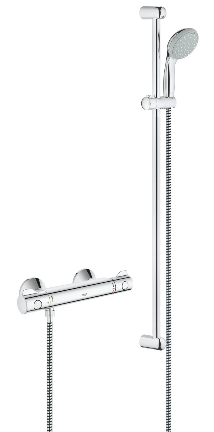 grohe grohtherm 800 34566000 thermostat shower mixer chrome finish genuine new ebay. Black Bedroom Furniture Sets. Home Design Ideas