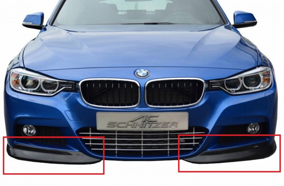 ac schnitzer carbon front spoiler elements for bmw f30. Black Bedroom Furniture Sets. Home Design Ideas
