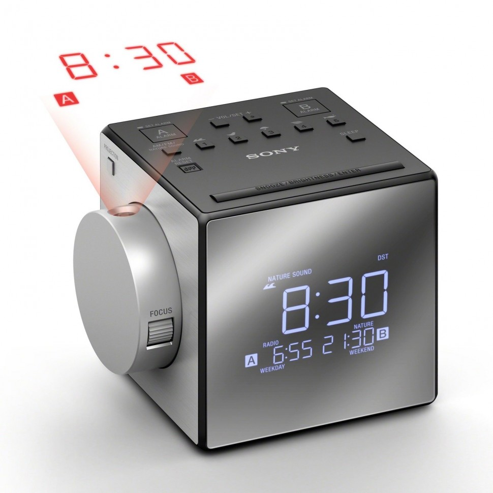 Sony Icf C1pj Radio Alarm With Time Projector Grey Best