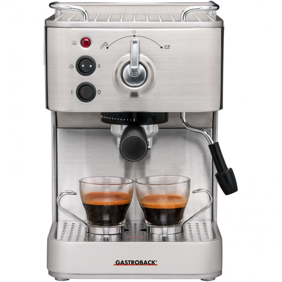 gastroback design espresso plus 42606 capsule coffee machine 2 cups genuine new ebay. Black Bedroom Furniture Sets. Home Design Ideas
