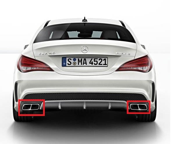 Mercedes benz cla 45 amg performance exhaust tips for cla for Mercedes benz performance exhaust