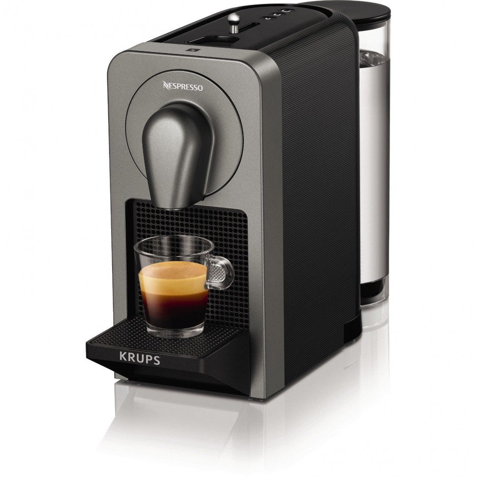 krups prodigio nespresso xn410t capsule coffee machine titanium genuine new ebay. Black Bedroom Furniture Sets. Home Design Ideas