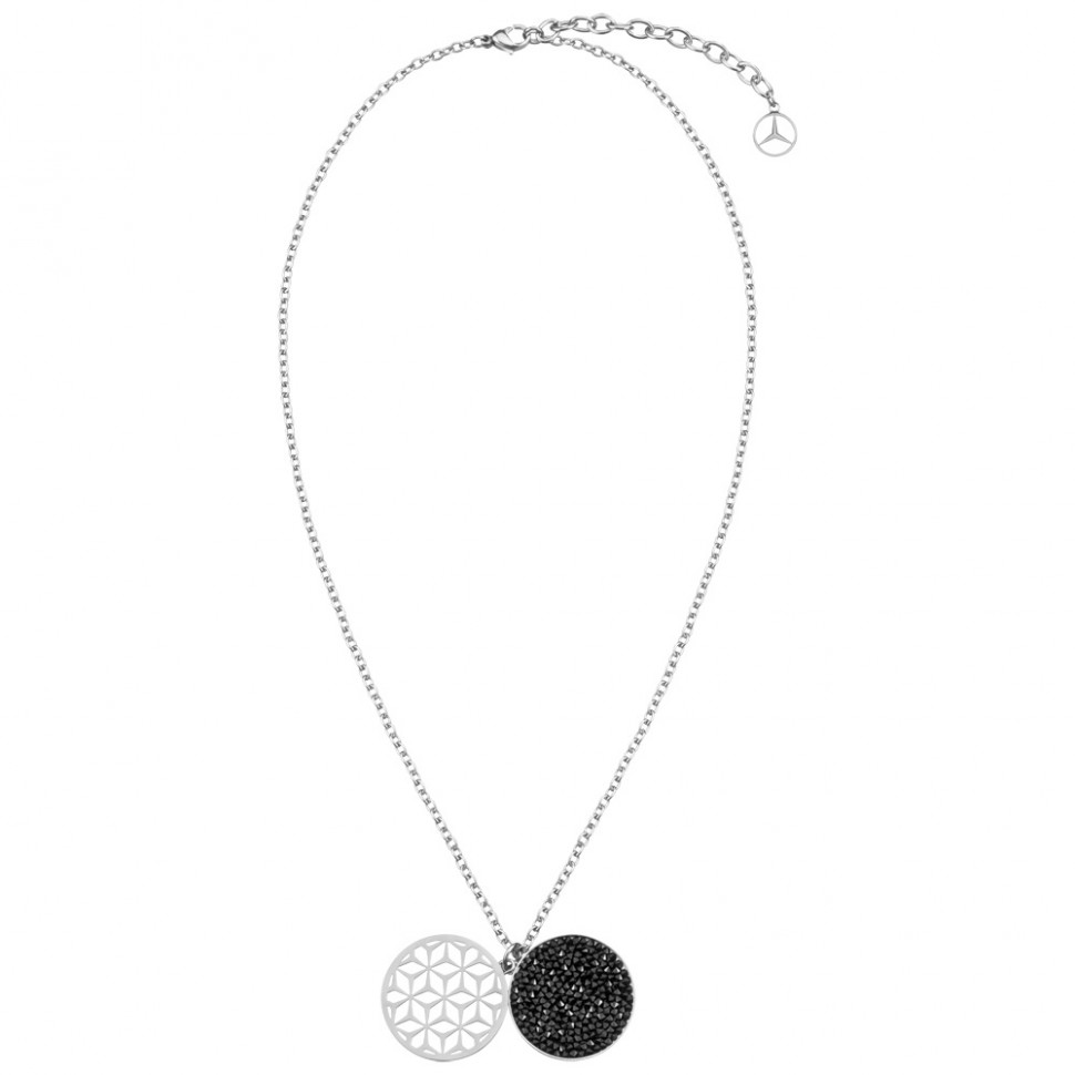 Mercedes benz ladies necklace black edition swarovski for Mercedes benz pendant