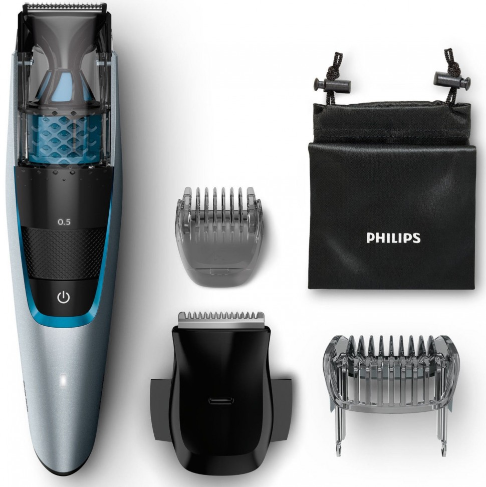 philips bt7210 15 beardtrimmer series 7000 vacuum beard trimmer silver genuine ebay. Black Bedroom Furniture Sets. Home Design Ideas