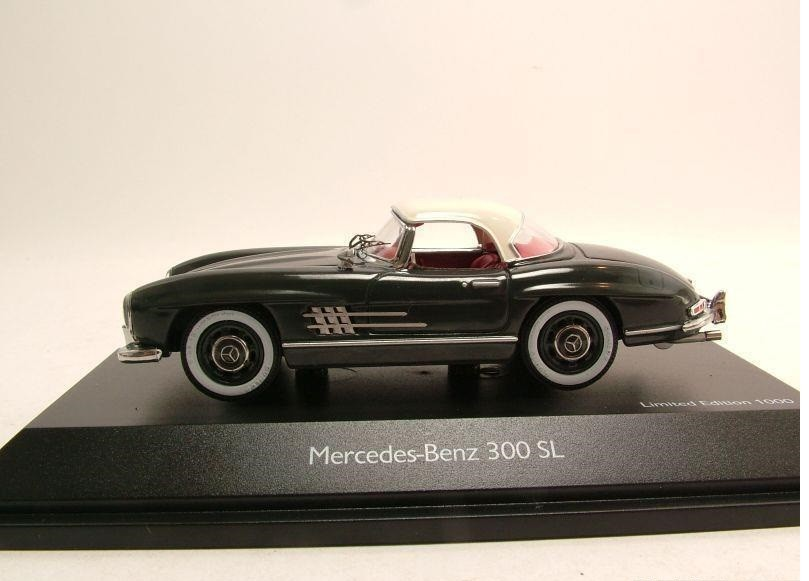 Schuco mercedes benz 300 sl hardtop gray creme model car for Mercedes benz usa customer service phone number