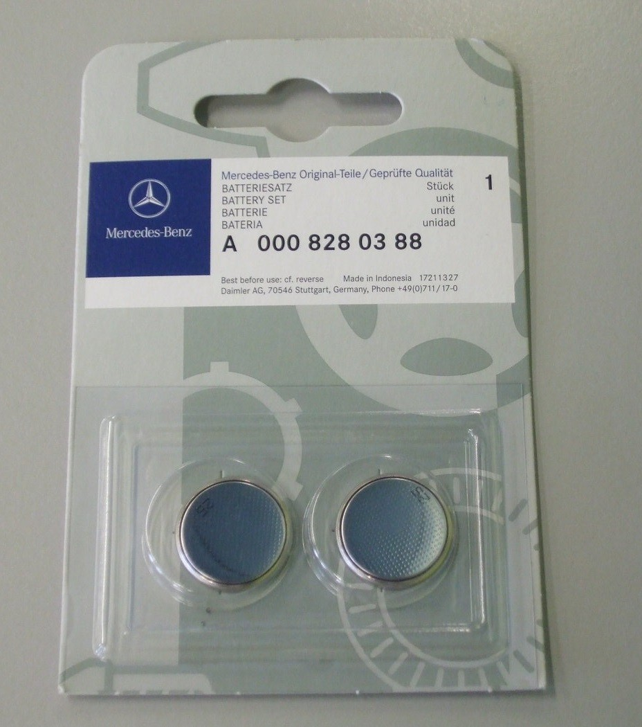 Mercedes benz key battery pack set 3v cr2025 a0008280388 for Mercedes benz key battery