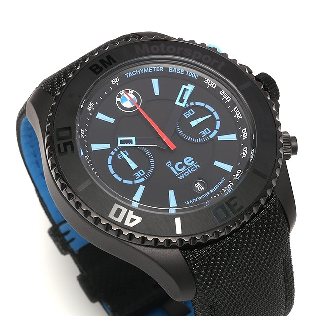 bmw ice watch motorsport steel black big big chronograph. Black Bedroom Furniture Sets. Home Design Ideas