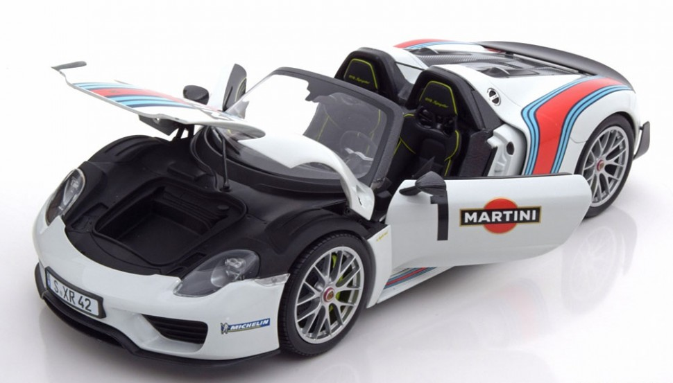 minichamps porsche 918 spyder limited edition martini model car 1 18 genuine new ebay. Black Bedroom Furniture Sets. Home Design Ideas