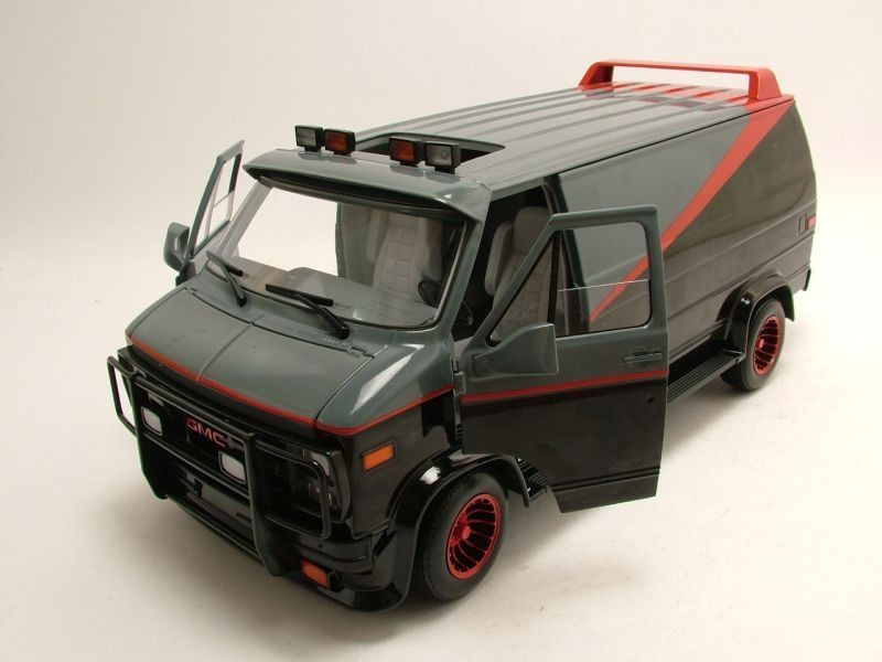 hot wheels chevrolet gmc 1983 a team van tv model car 1 18. Black Bedroom Furniture Sets. Home Design Ideas