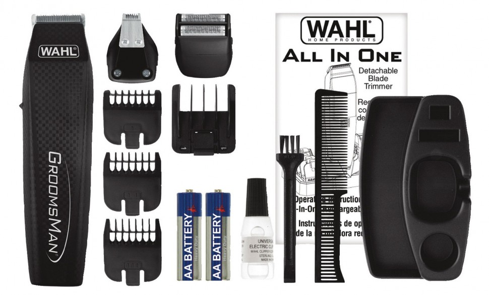 wahl 5537 3016 beard trimmer precision battery set black genuine new best gift ebay. Black Bedroom Furniture Sets. Home Design Ideas