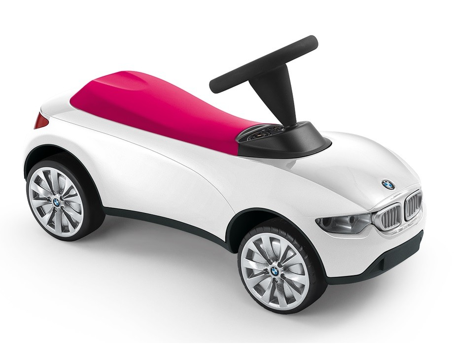 bmw baby racer iii kids ride on push car white raspberry. Black Bedroom Furniture Sets. Home Design Ideas